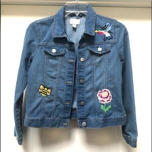 Children's Place Embroidered Jean Jacket Size XL14